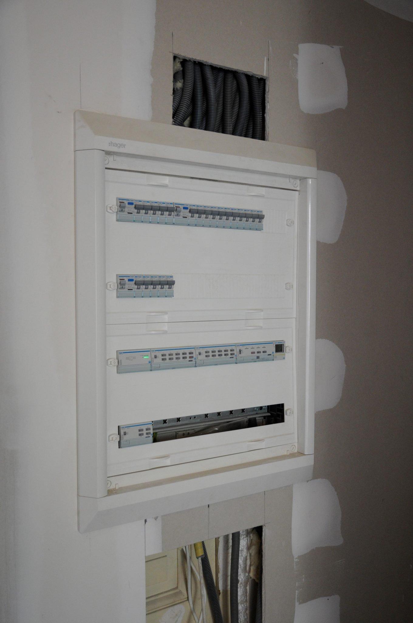 coffret electrique avec module domotique KNX modif - Activités