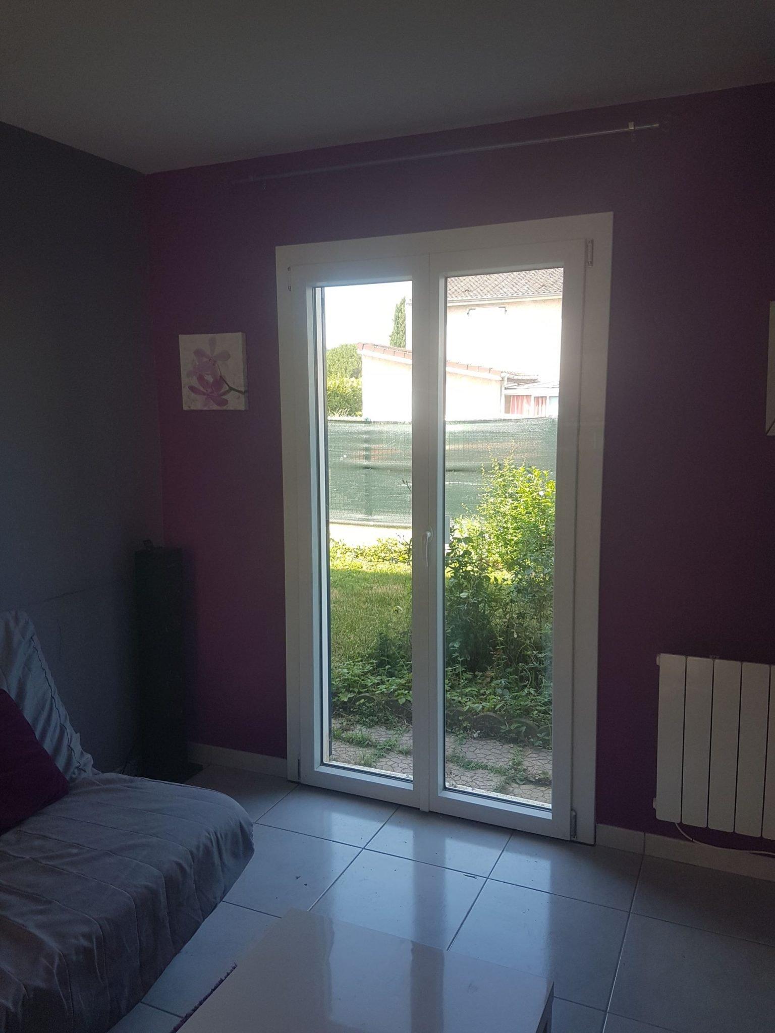 Porte fenêtre pvc INTERNORM 1 vantaux - Nouveau chantier pour GCDH